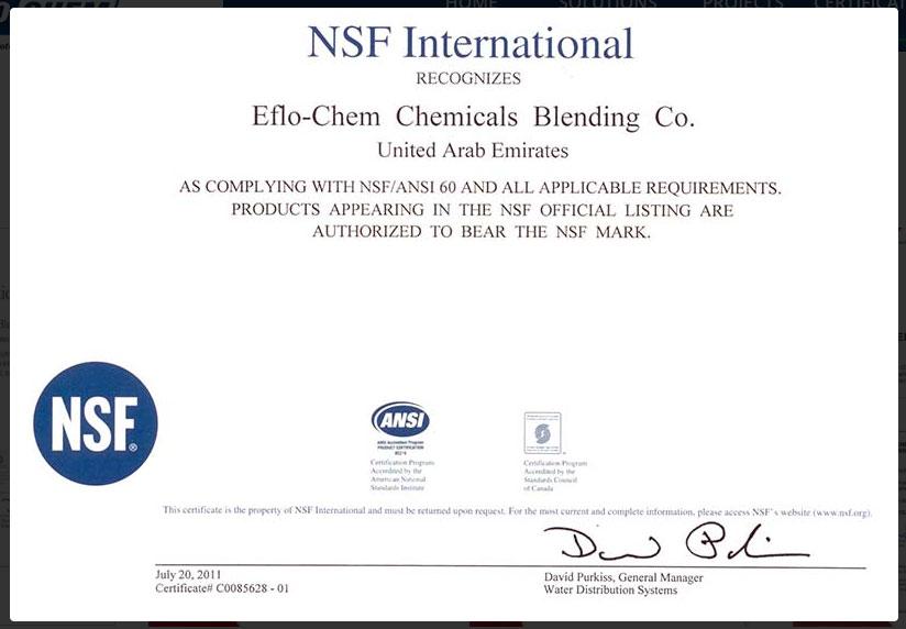 EfloCHEM Water Treatment Chemicals   EFLO International Ltd